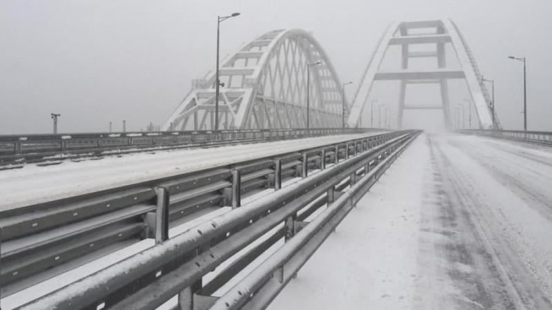 Крымский мост, 19 февраля 2021