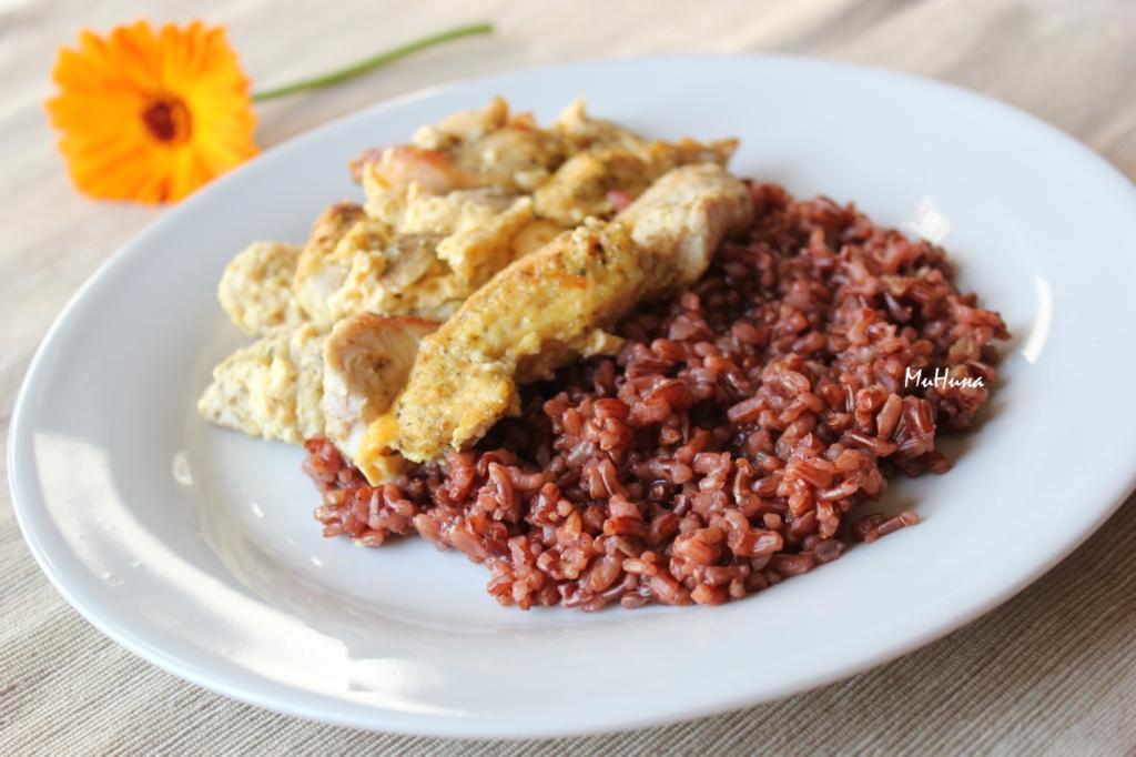 рис рубин и курица кокосовая...