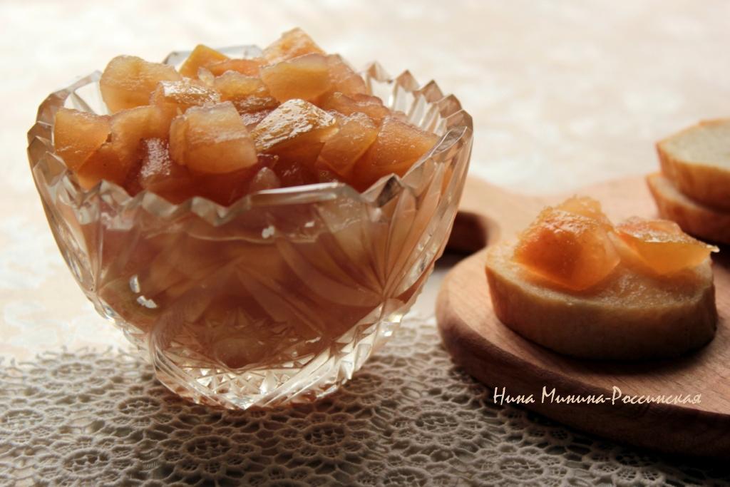 варенье яблочное с корицей и ромом Минина-Россинская