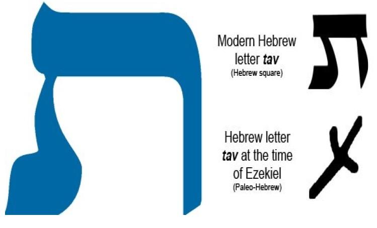 Тав современная и времен пророка Иезекииля