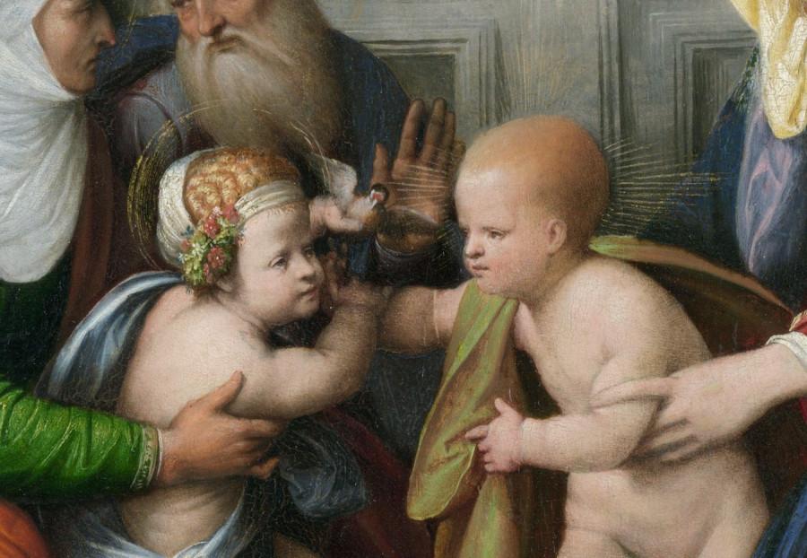 Гарофало - Святое Семейство со святыми. Деталь 1..jpg
