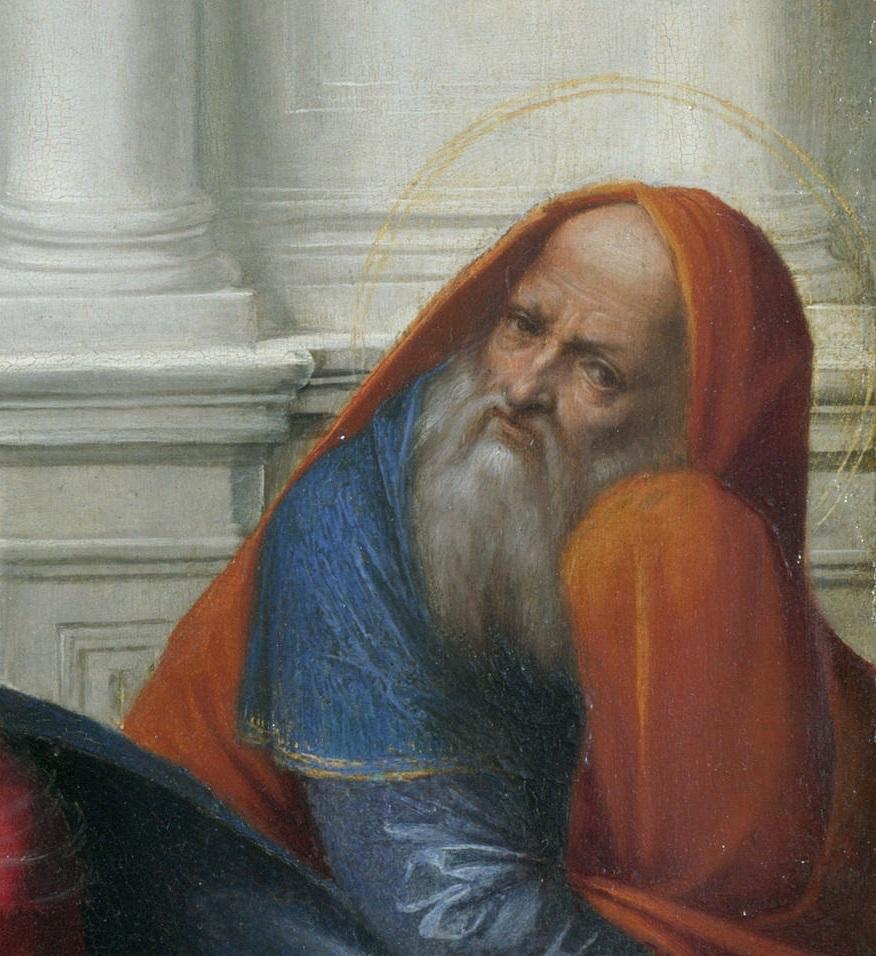 Гарофало - Святое Семейство со святыми. Деталь 3..jpg