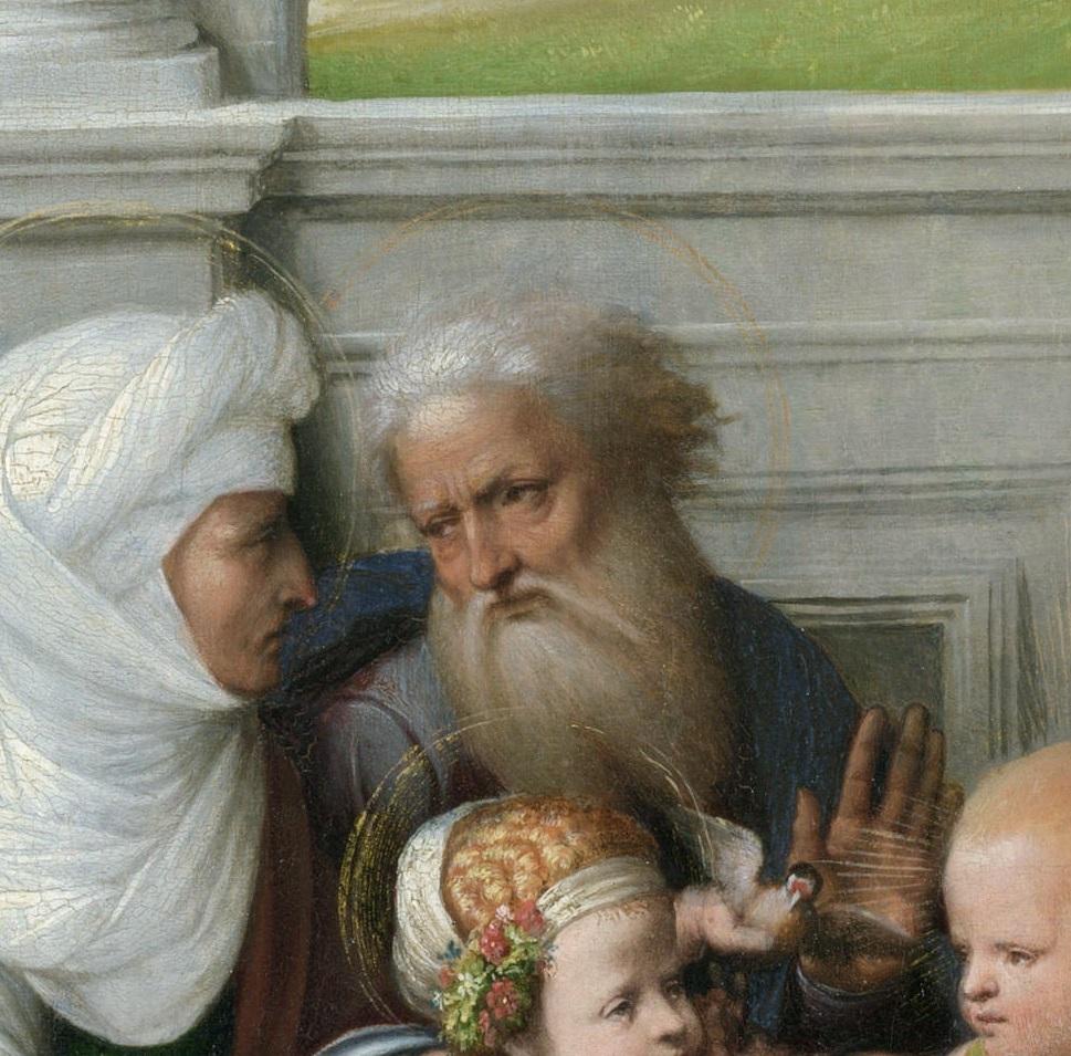 Гарофало - Святое Семейство со святыми. Деталь 4..jpg