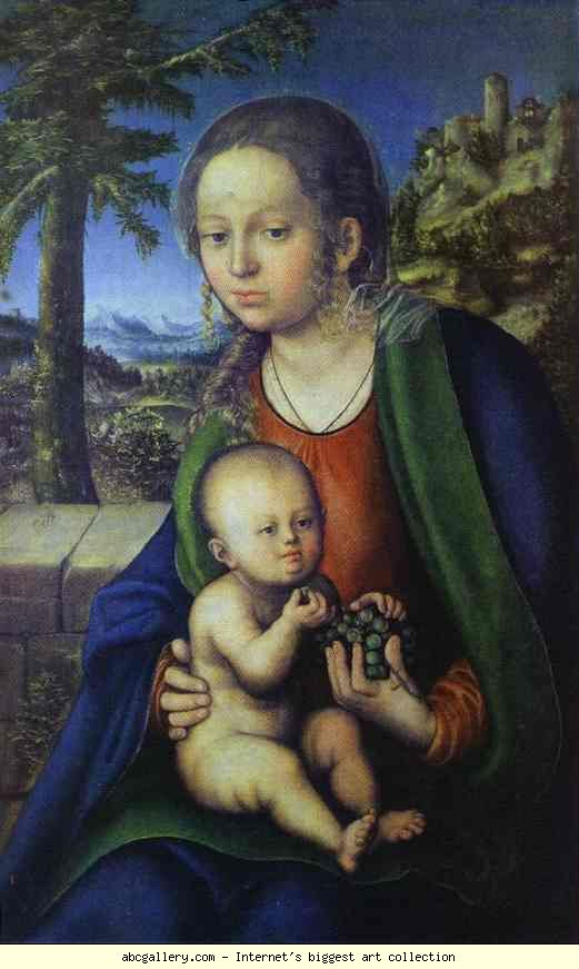 Lucas Cranach the Elder. Madonna and Child. 1510-1514.jpg