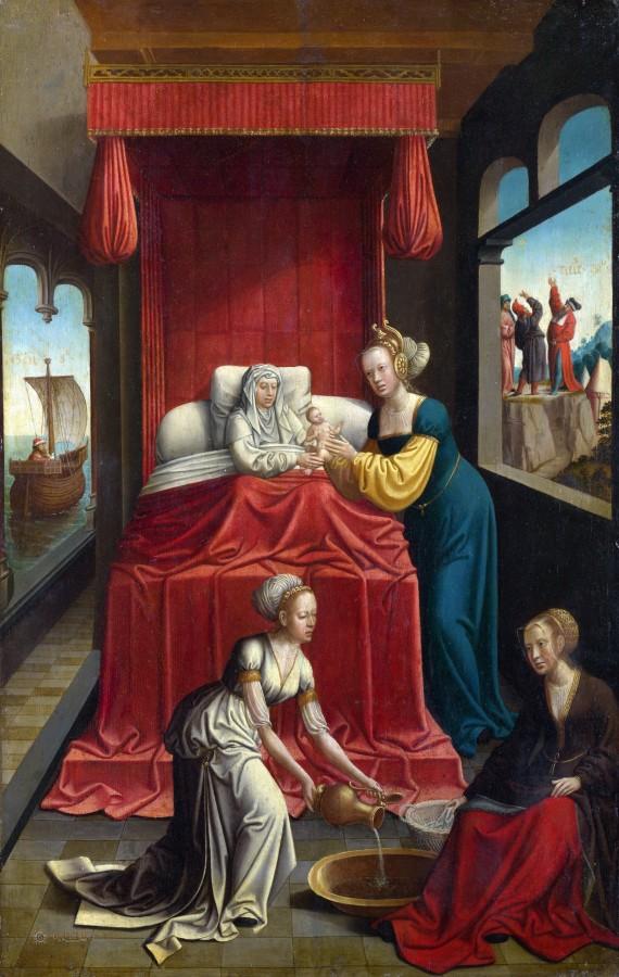 Нидерландский мастер, ок1520 - Рождество Марии.jpg