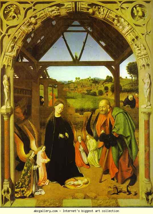 Petrus Christus.The Nativity. c. 1445.jpg