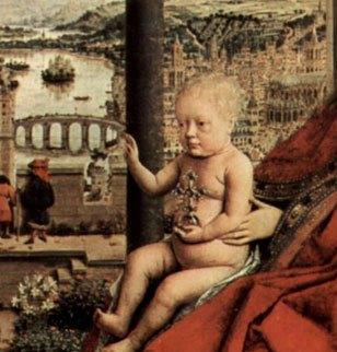 Ян ван Эйк Мадонна канцлера Ролена 1435 деталь 1..jpg