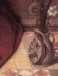 Адриан Изебрант мадонна с младенцем на троне 1510 деталь 1.jpg