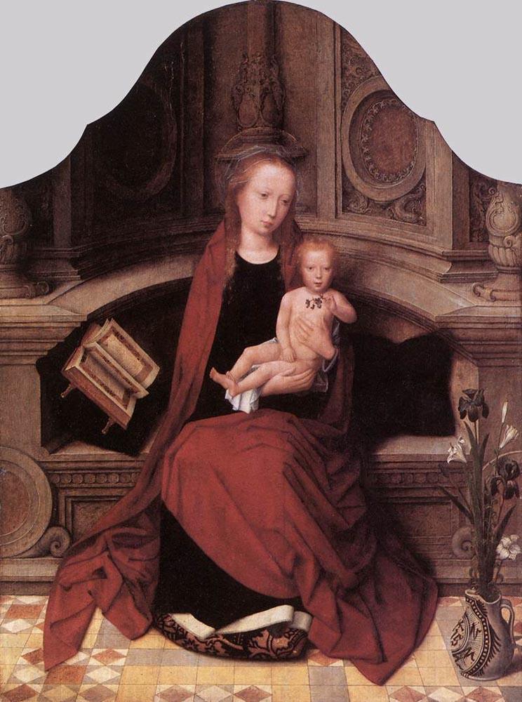 Адриан Изебрант мадонна с младенцем на троне 1510.jpg