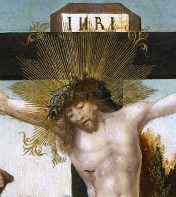 Cornelisz. van Oostsanen, Jacob -- De kruisiging, 1507-1510 деталь 1..jpg