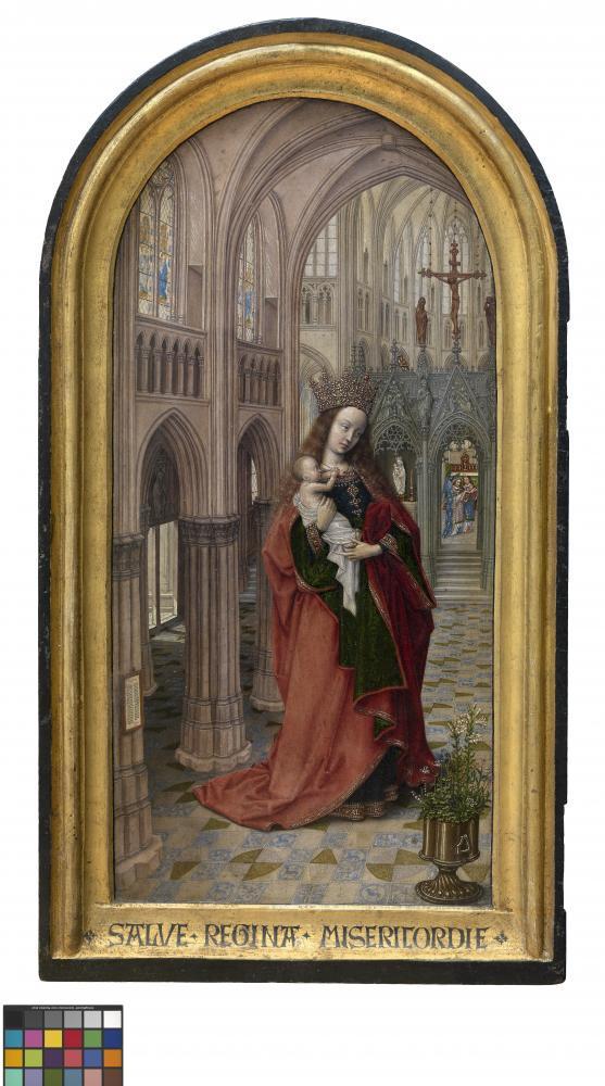 Мастер 1499 Мадонна и дитя с Портретом аббата Кристиана де Хондта..jpg
