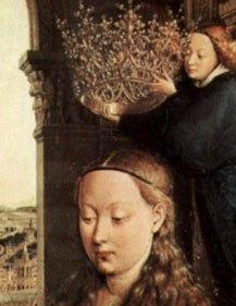 Ян ван Эйк Мадонна канцлера Ролена 1435. Деталь 1..jpg