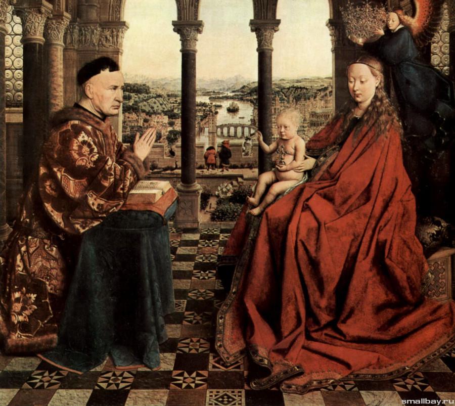 Ян ван Эйк Мадонна канцлера Ролена 1435..jpg
