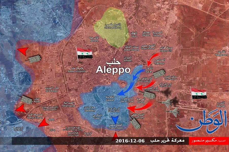 Под контролем САА 85% территории восточного Алеппо. Боевики сдаются сотнями