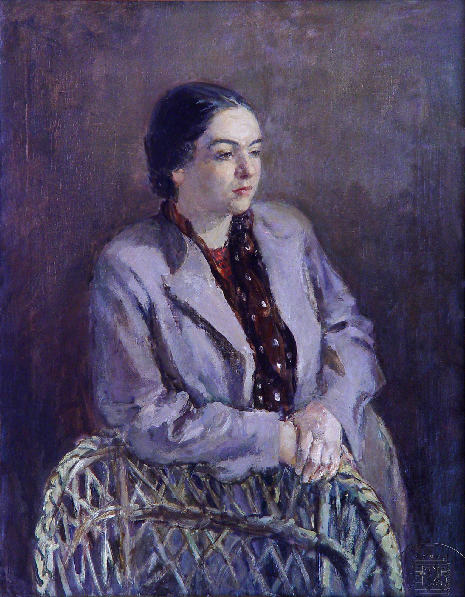 Крылов Порфирий Никитич, 1902-1990 Портрет художницы Е.С. Абрамовой, 1936
