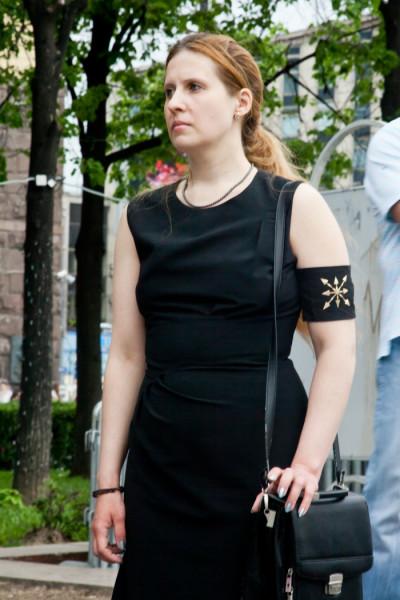 Наталья Макеева на митинге против продажных СМИ 18 мая 2013 года