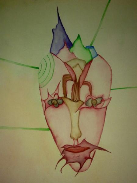 Рисунок Натальи Макеевой. Акварель. 90-е года