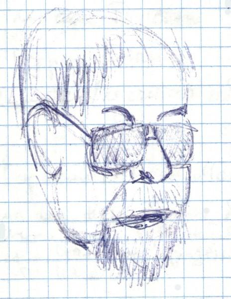 Наталья Макеева. Рисунки 2013 года Смирнов, преподаватель Литературного института