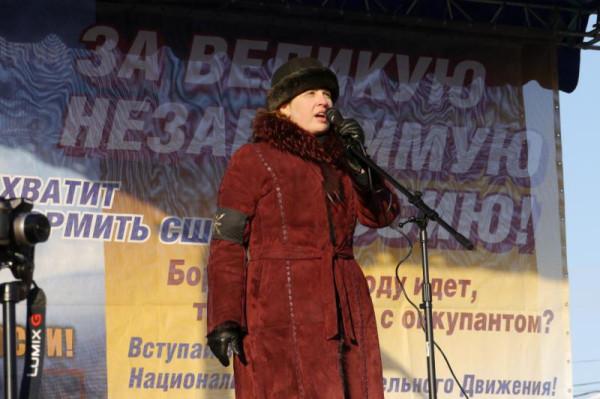 Наталья Макеева на митинге «Россия и Украина – единый народ!»