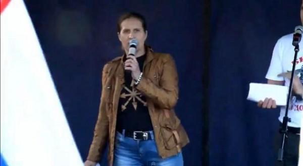 Наталья Макеева - митинг Стоим за Донбасс