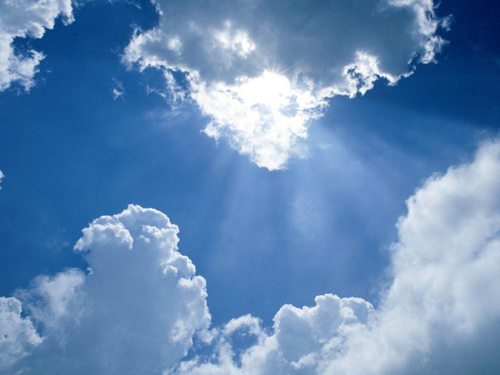 просветлённое небо
