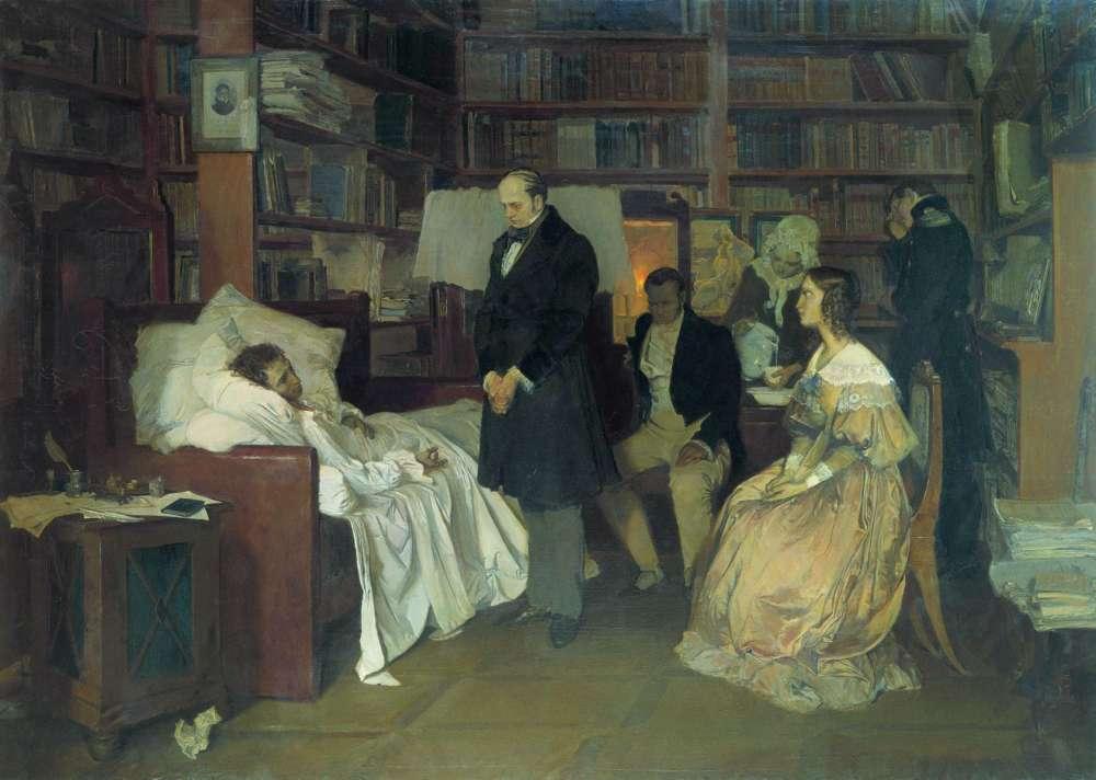 Д. Белюкин. Смерть Пушкина