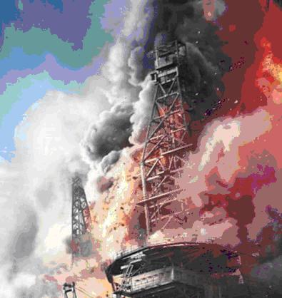Авария на нефтяной платформе