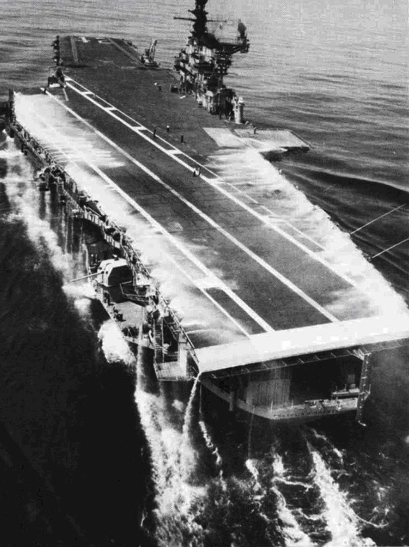 Система орошения палубы авианосца.
