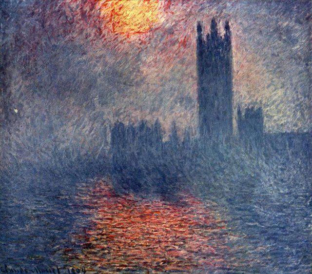 Клод Моне «Лондон. Парламент» Музей д'Орсе1900-1904