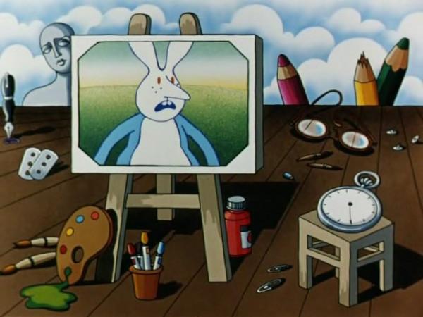 Кадр из мультфильма: 'Как лиса зайца догоняла'