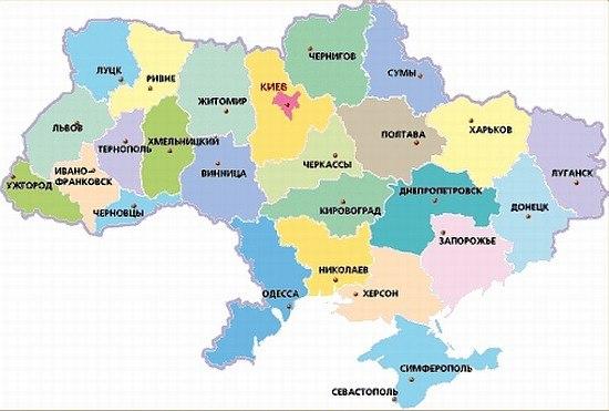 карта укры области