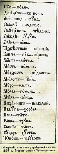 Словарь_1596_г._Лаврына_Зызания_1 стр