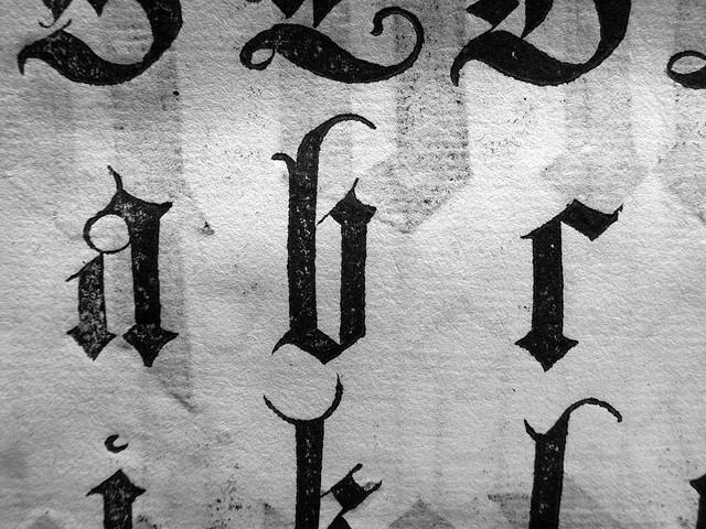 Построение готического шрифта, Альбрехт Дюрер