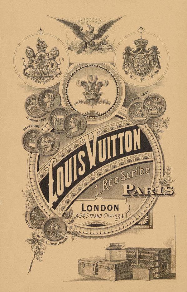Реклама Луи Виттон, конец 19-го века