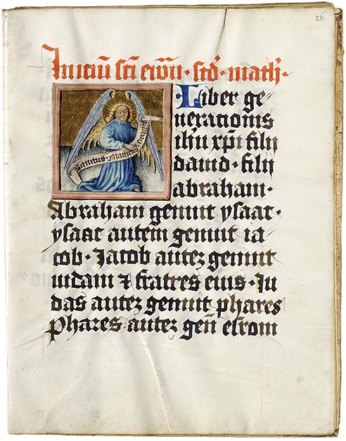 Евангелиарий. Регенсбург, Германия, около 1430–1440