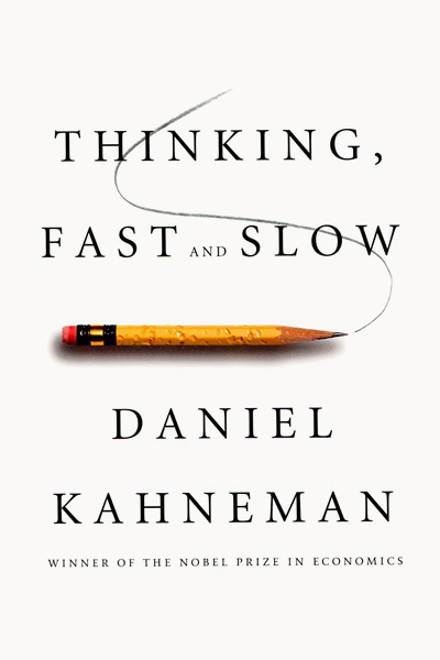 Обложка книги Даниэля Канемана Thinking, fast and slow