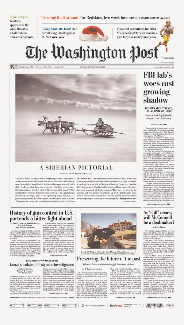 Передовица газеты Washington Post