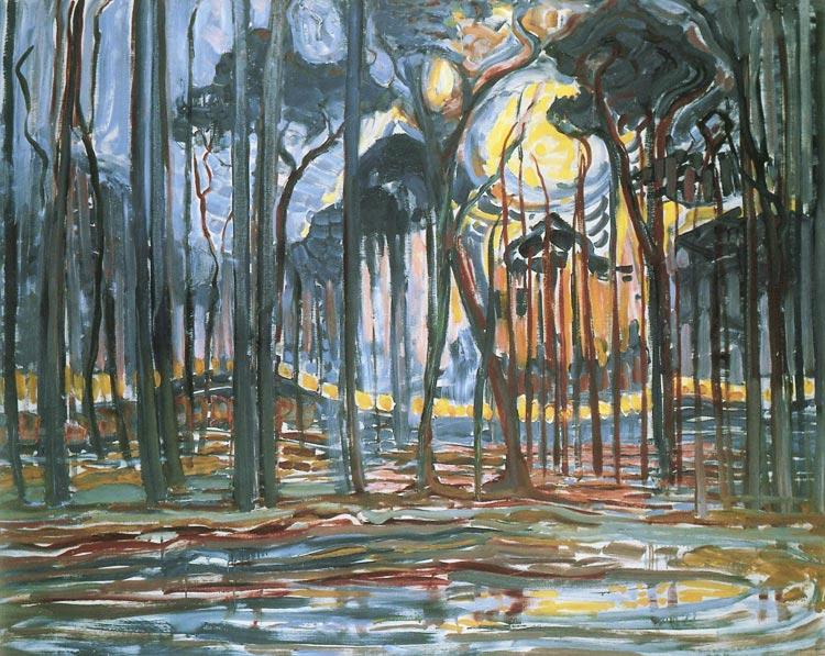 Лес около Оеле. 1908