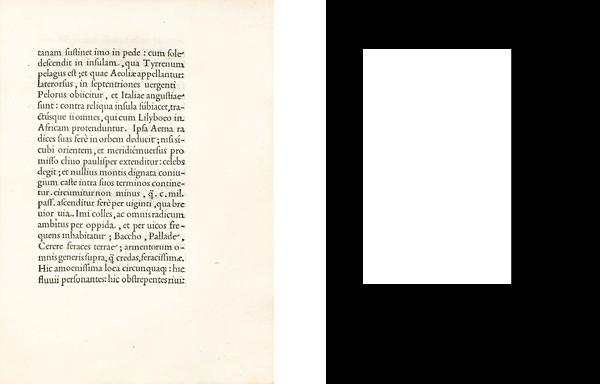 Страница из книги «Об Этне». Дом Альда, 1496