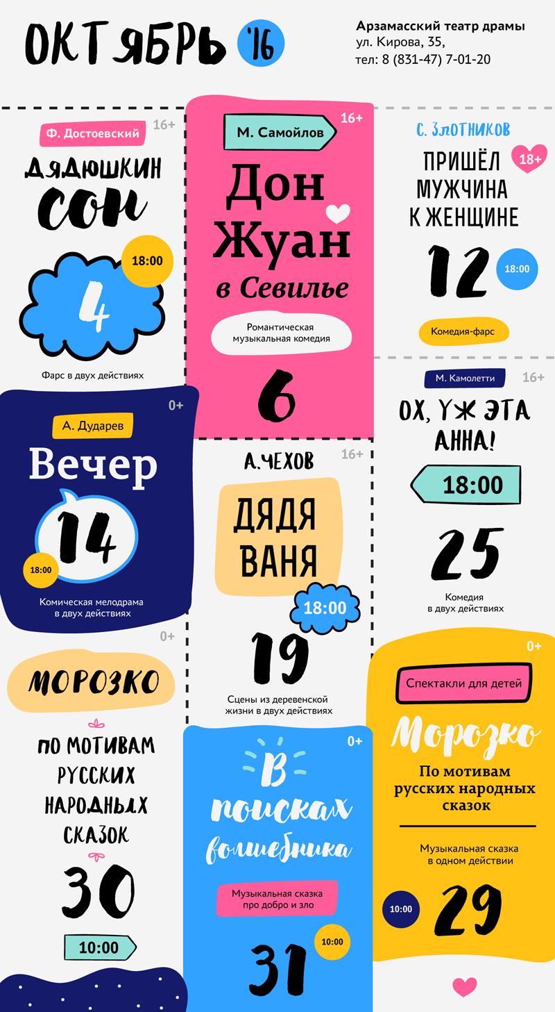 Афиша Арзамасского театра драмы