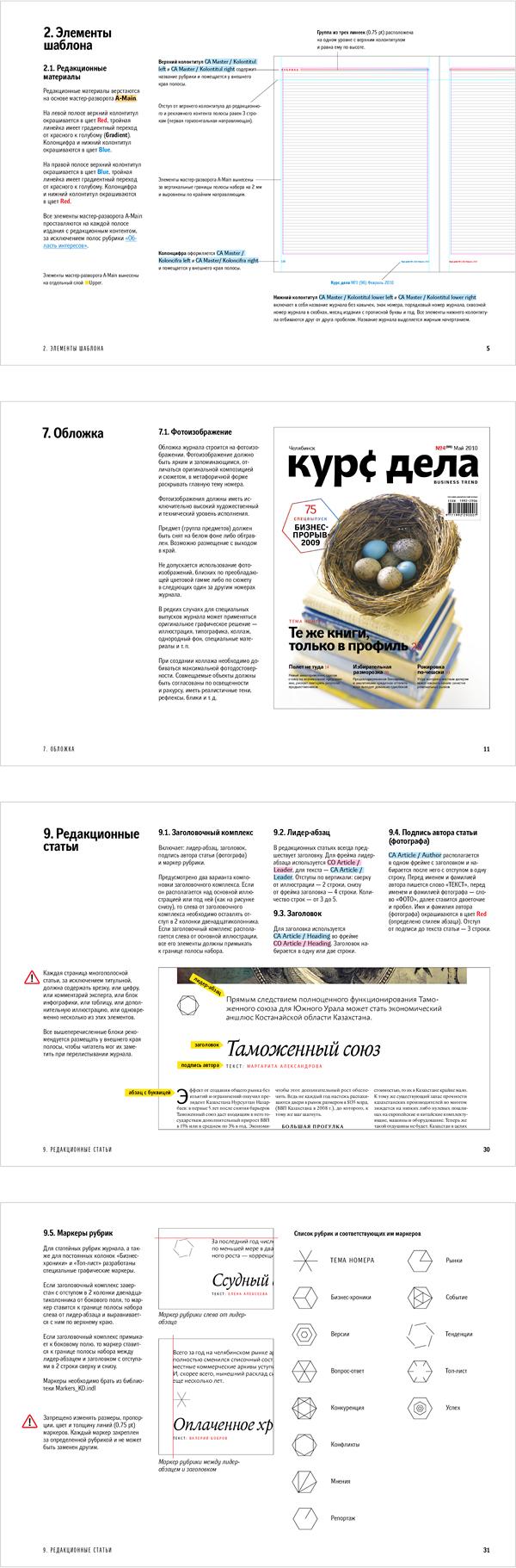 Брендбук журнала «Курс дела»
