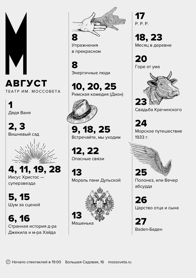 Афиша театра им. Моссовета, Москва