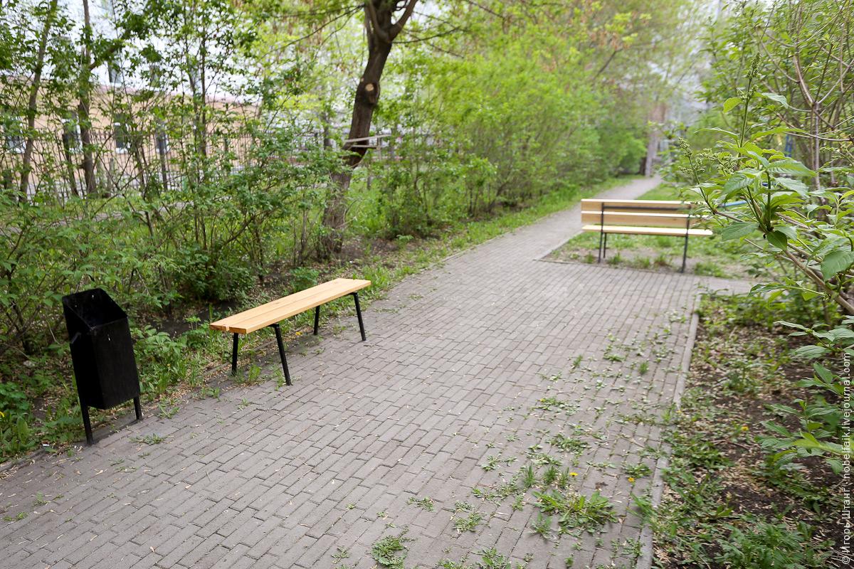 Ремонт скамеек во дворе