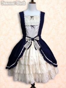 Ribbon Bustle Dress navy