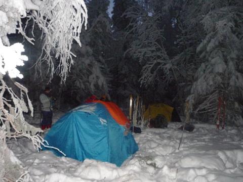 туризм в палатках