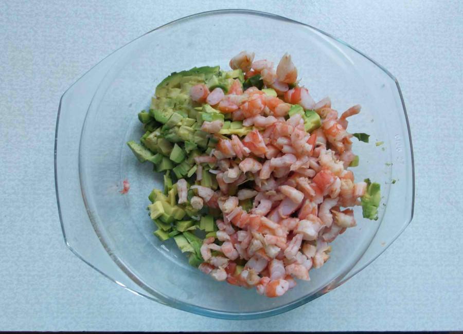 авокадо+креветки