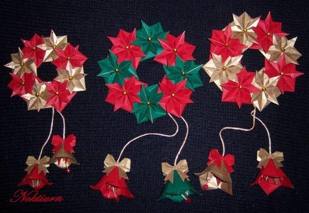 Рождественский венок оригами своими руками
