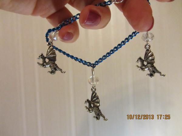 Браслет голубой Дракончики