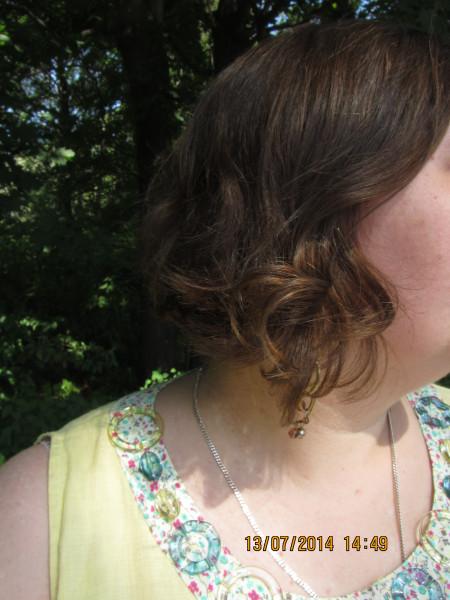 серьги волосы воротник