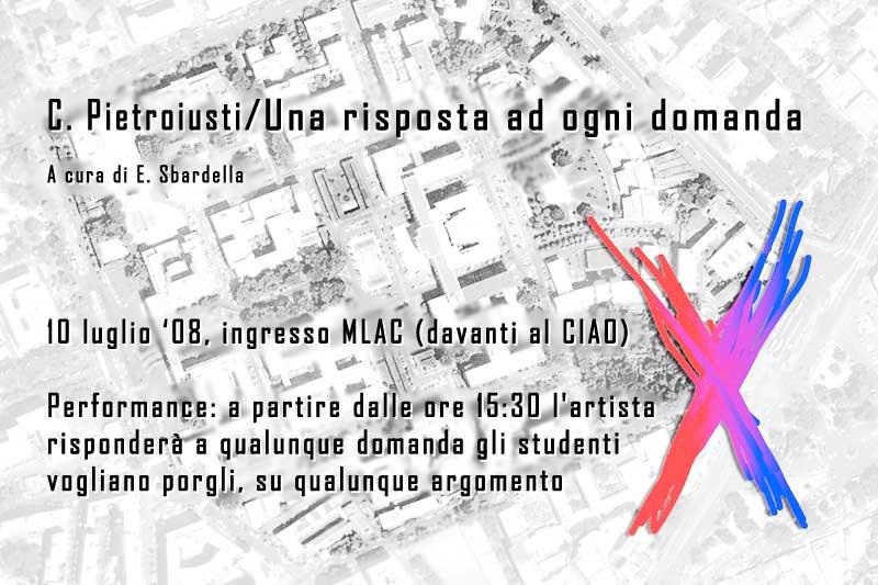 Invito alla performance di Pietroiusti